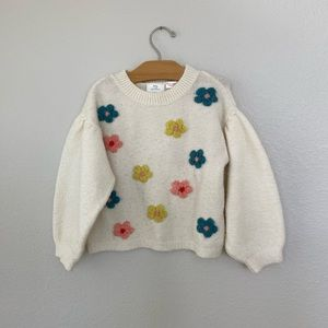 ZARA kids flower sweater